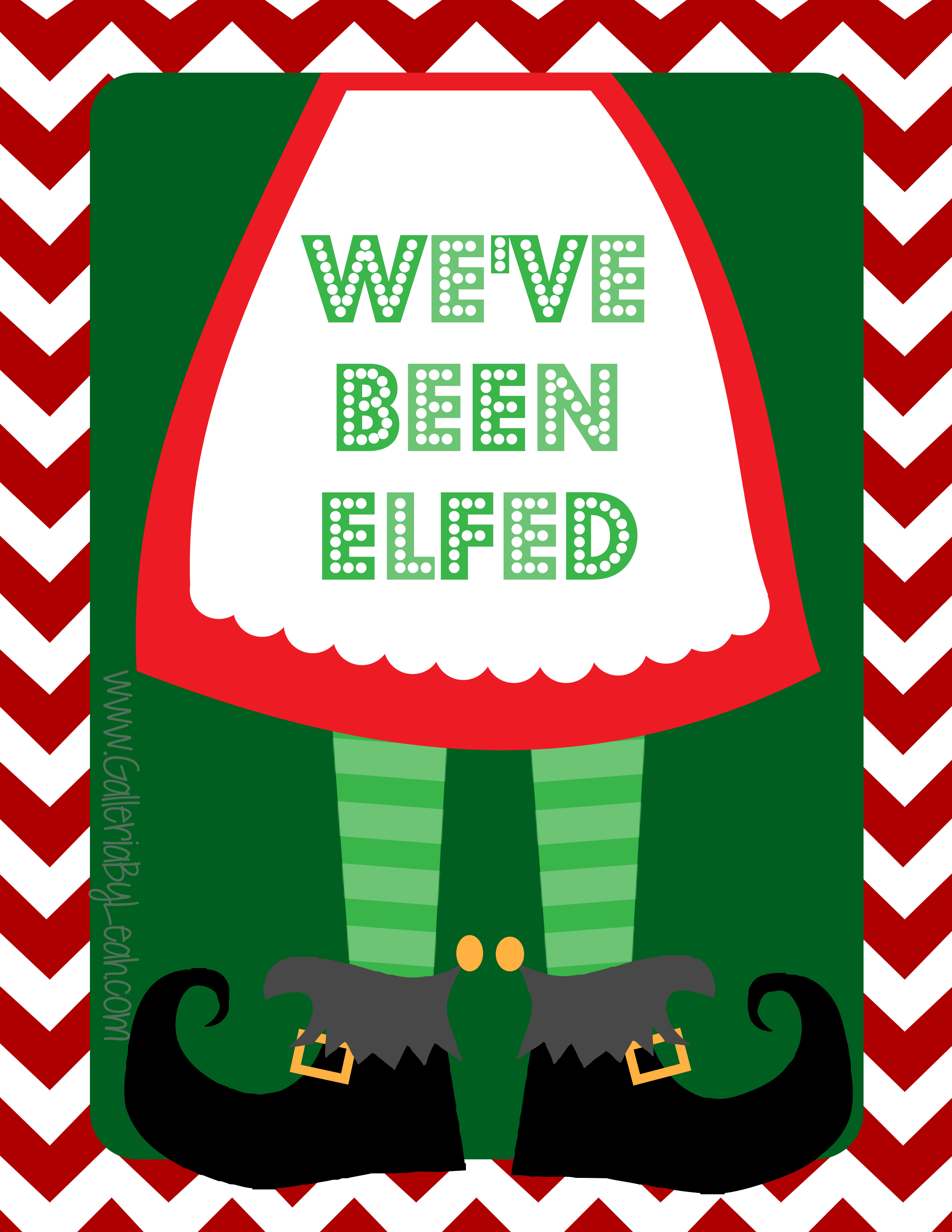 image relating to You've Been Elfed Free Printable known as Ive Been ELFed! Portfolio