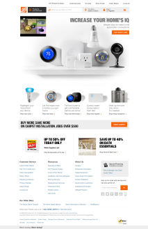 smart home page no flyout